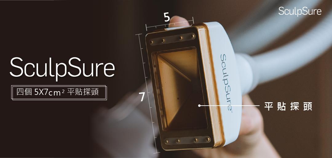 SculpSure絲酷秀的四個平貼探頭