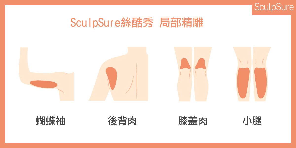 SculpSure絲酷秀非侵入式雷射溶脂體雕瘦小腿探頭雕塑部位